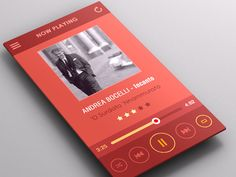 Orange Flat Mobile Ui by Yasser Achachi