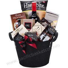 Metropolitan corporate wine thank you gift basket Vancouver Wine Gift Baskets, Gourmet Gift Baskets, Corporate Gift Baskets, Customized Gifts, Vancouver, Wraps, Gift Wrapping, Design, Gift Ideas