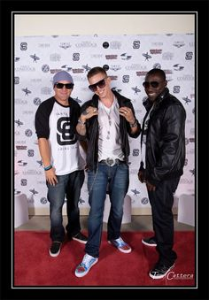 J-willz, Chris Rene, and FMZ on the red carpet at Rock The Vote.