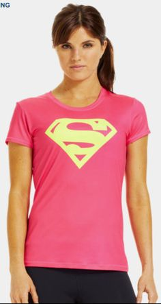 Under Armour Women's Fitted Supergirl T-Shirt #underarmour #supergirl #superman #alterego