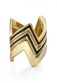 Stacked Jagged Rings #rings #gold #geometric