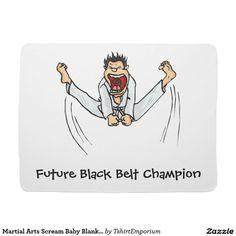 Martial Arts Scream Baby Blanket