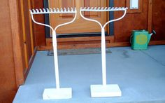 directions for free standing  rake if you dont want to mount on wall  coat rack