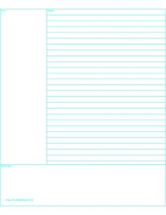 Cornell Note Paper Paper - Free printable paper of all kinds