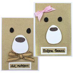 Askarteluverkkokauppa - Askartelu - Askartelutarvikkeet - Sinelli Card Tutorials, Diy And Crafts, Daddy, Punch, Ideas, Cards, Animal Cards, Kids Cards, Thoughts