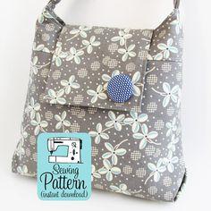 Daphne Handbag PDF Sewing Pattern | Purse Pattern | Shoulder Bag Sewing Pattern…