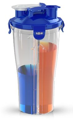 Holds both your pre-workout and post-workout drinks!