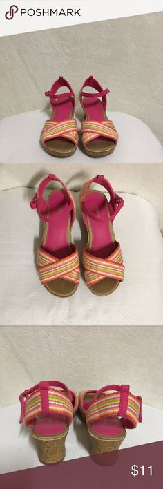 Cherokee Girl's Wedges Sandals Size 3 Size 3 Girls Wedges Sandals Pink and different colors  Very good condition Cherokee Shoes