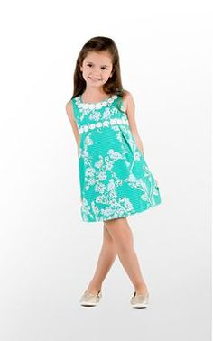 A green and white shift by Lilly Pulitzer that is perfect for summer!
