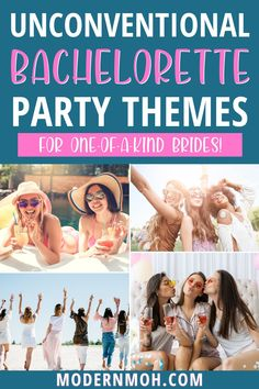 Say goodbye to those overused and outdated bachelorette party themes and check out our five fresh ideas for 2021 and beyond! #bachelorettepartythemes #bachelorettepartythemeideas #ModernMaidofHonor #ModernMOH Bachelorette Party Themes, Bachlorette Party, Astrology Books, Maid Of Honor Speech, Songs To Sing, Wedding Day, Wedding Stuff, Weekend Is Over, Bride