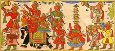 Festive+Procession+of+Rajasthan+(Phad+Painting+on+Cloth+-+Unframed))+