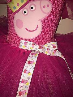 Peppa Pig Inspired Tutu Party Christmas Dress