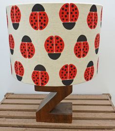 Ladybird Drum Shade Lamp or Ceiling Shade 30 cm by WhileLokiDreams, £32.00
