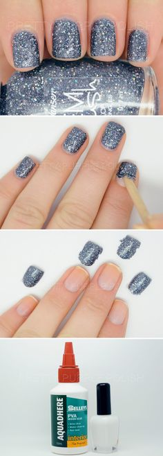 I love glitter nail polish but it is such a pain to remove. Solution? Make your own peel off base. This is genius!