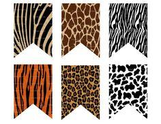 DIY Animal Print Banner Printable Jungle Banner by Printables4Less