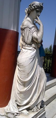 Calliope, the Muse of Epic Poetry,  in Achílleion, Kerkira (Corfu), Greece
