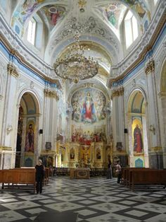 Cathedral of the Immaculate Conception of Blessed Virgin Mary, Ternopil, Ukraine (Catholic) Church Architecture, Historical Architecture, Beautiful Architecture, Religious Architecture, Old Churches, Catholic Churches, Immaculate Conception, Church Interior, Cathedral Church