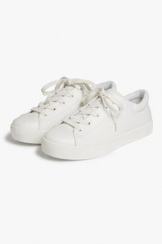 Monki Lace-up sneakers  in White