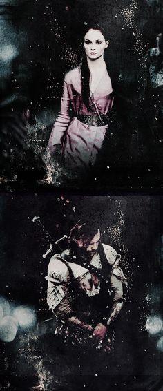Sandor Clegane & Sansa Stark ~ Game of Thrones Fan Art