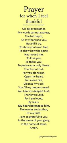 Prayer for being thankful