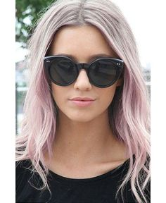 COLOUR: PINKY SILVER These fairyfloss inspired tresses are exclusively for blonde babes; the lighter the hair the more pastel and soft you can go. Add some silver or pearl highlights to give it an updated, modern touch. Works well against pretty much any complexion - woot!