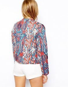 Mango Printed Quilted Short Jacket. $32.22