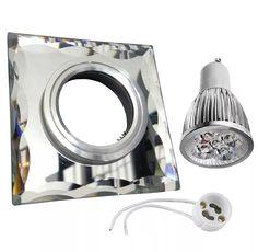 kit spot espelhado completo super led 5w spot + led +soquete