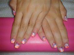 summer nail design I got done tonight