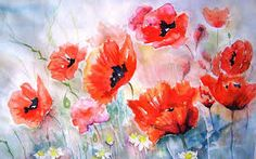 Imagini pentru flowers paintings wallpaper
