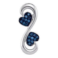 1/4CTW-Diamond FASHION BLUE PENDANT