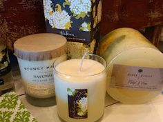 Spring-scented candles