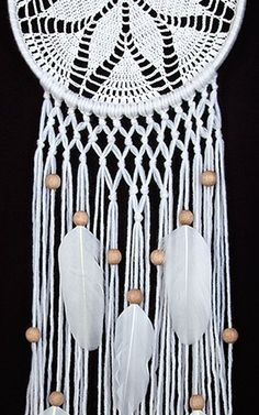 White Dream Catcher Crochet Doily Dreamcatcher white feathers boho dreamcatchers wall hanging wall decor wedding decor macrame - Decoration For Home Wedding Wall Decorations, Decoration Table, Decor Wedding, Crochet Mittens Free Pattern, Crochet Patterns, Free Crochet, Doily Wedding, Crochet Dreamcatcher, Dream Catcher Boho
