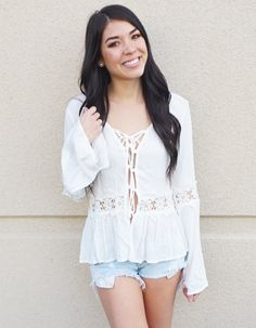 Oceanside Lace Up Top