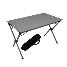 Benzara Silver Aluminum Large Portable Picnic Table in a Bag (Silver Picnic Large Aluminum Portable Table W/Bag)