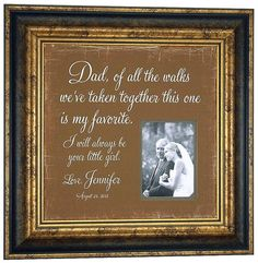 Father Wedding Gift Parent Thank You by PhotoFrameOriginals