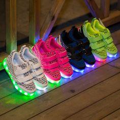 Yeezy Luz Zapatillas LED Con Alas Para Niños