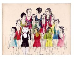 Oooh Gurl lookout..... -----  The Group by Delphine Lebourgeois   Artfinder