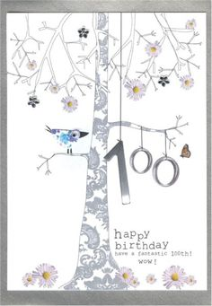 Purple butterfly birthday card butterflies birthday cards and purple special 100th birthday cards bookmarktalkfo Images