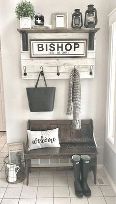 Best Small Entryway Decor & Design Ideas for Upgrading Space 2019 -. - Best Small Entryway Decor & Design Ideas to Upgrade Space 2019 – # DIY Home Decor – - Small Mudroom Ideas, Room Decor For Teen Girls, Foyer Decorating, Decorating Ideas For The Home Living Room, Decorating Bathrooms, Home And Deco, Diy Home Decor, Design Ideas, Entryway Shelf