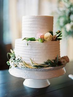 Two Tier Wedding Cake | Brides.com