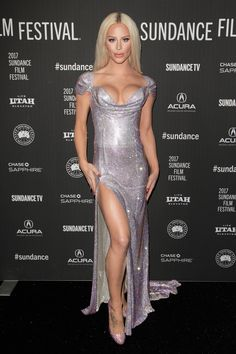 """Gigi Gorgeous attended the Sundance Festival for the premiere of her new documentary """"This Is Everything: Gigi Gorgeous"""" in a dress worth one million dollars."""
