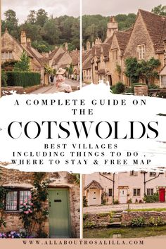 The Cotswolds is one of England's prettiest regions, with beautiful landscapes and cute villages. From Bibury to Stow on the Wold, these are the places to visit in the Cotswolds you have to see. Cotswolds Map, The Cotswolds England, Cornwall England, Visit Bath, Bourton On The Water, Stow On The Wold, Life Hacks, Travel Guides, Travel Tips