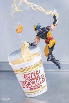 Cup Noodle by Hotkenobi Toys Photography, Marvel Legends, Marvel Cinematic Universe, Legos, Action Figures, Avengers, Anime, Fan Art, Comics