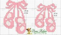 Mais uma fofa bailarina em Soda Stitch: Seguem os gráficos usados Baby Cross Stitch Patterns, Cross Stitch Baby, Cross Stitch Designs, Cross Stitch Embroidery, Plastic Bead Crafts, Baby Ballet, Cross Stitch Boards, Charts And Graphs, Crochet Baby