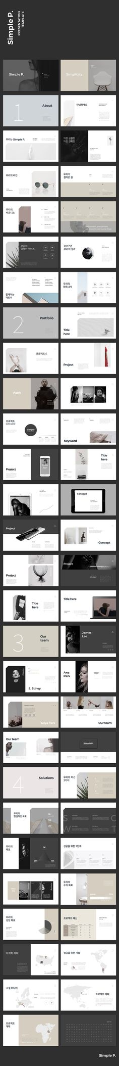 Simple P. Presentation Template #keynote #presentation #simple #minimal #portfolio #business #marketing