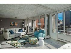 An Ordinary Belltown Condo, Transformed With Extraordinary Design Cute Home Decor, Decor, Home, Luxury Real Estate, Urban Decor, House, Condo Decorating, Interior Design, Concrete Ceiling