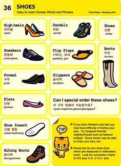 36. Shoes  An Illustrated Guide to Korean by  Chad Meyer and Moon-Jung Kim