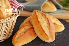 Evde Ekmek Yapımı (videolu) Tarifi Scones, Pita, Tasty, Yummy Food, Bakery Design, Cake Decorating Tips, Hot Dog Buns, Food And Drink, Cooking Recipes