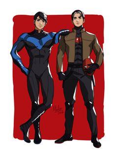 Nightwing & Red Hood. Dick Grayson & Jason Todd. <3
