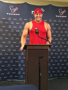 J.J. Watt says he goes to Vince Wilfork to get his thoughts on what to improve. #Texans